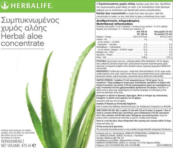 χυμός Αλόης Herbalife